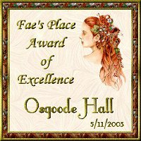 Fae's Award of Excellence