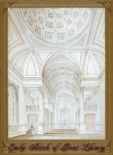 Osgoode Hall Great Library Early Sketch