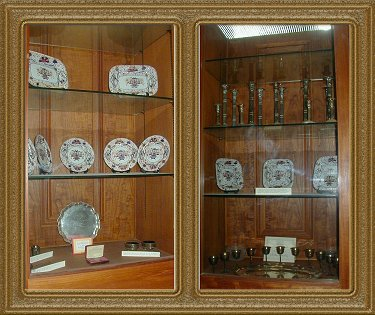China Cabinet in Judge's Dining Room